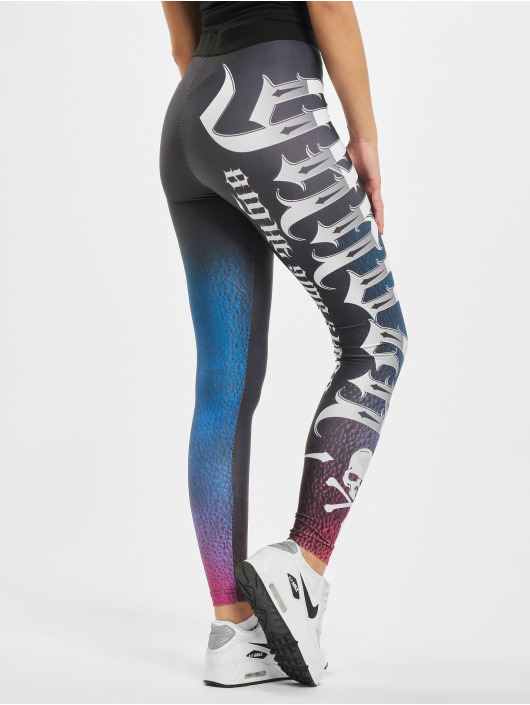 Yakuza Leggings/Treggings Reptile czarny