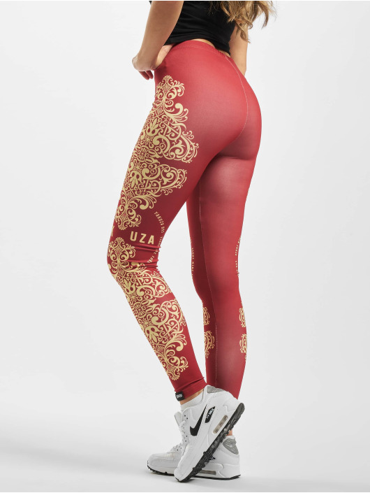 Yakuza Leggings/Treggings Ornamentic czerwony