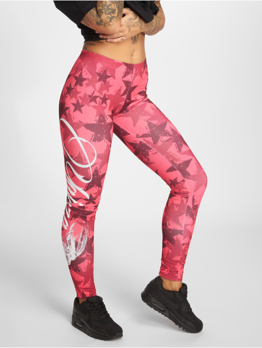 Yakuza Leggings/Treggings Stars lyserosa