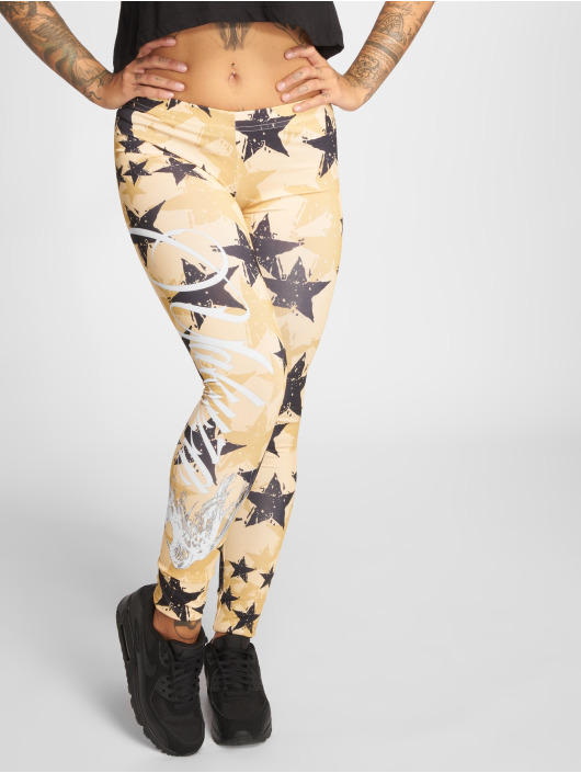 Yakuza Leggings/Treggings Stars yellow