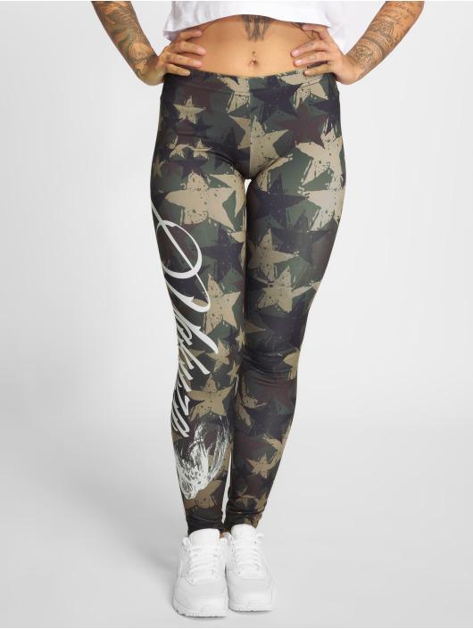 Yakuza Leggingsit/Treggingsit Stars camouflage