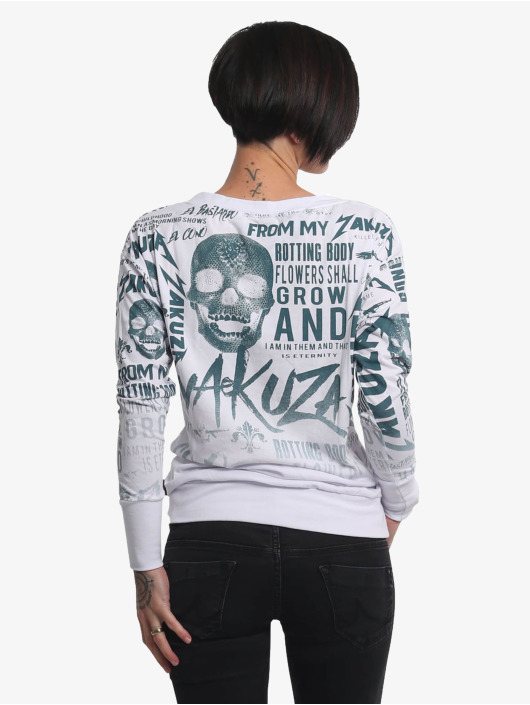Yakuza Longsleeve Rotting Body Gradient weiß