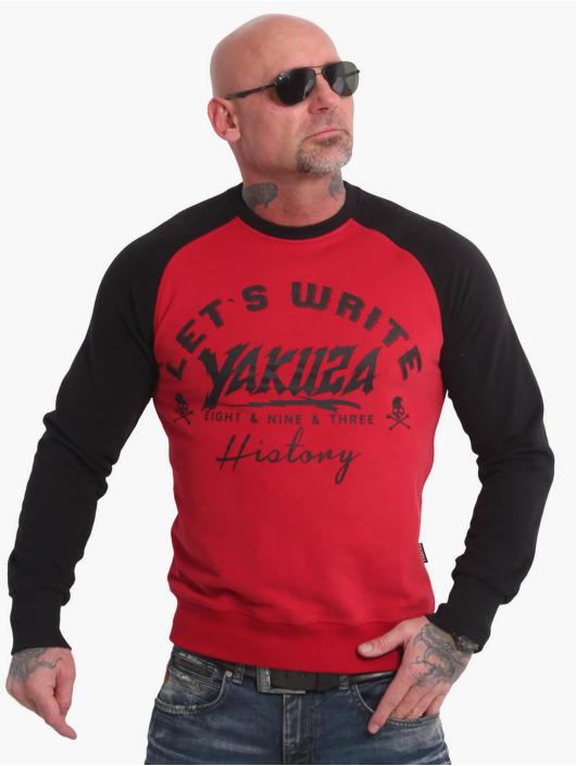 Yakuza Maglia History Raglan rosso