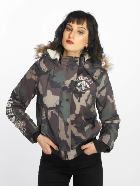 Yakuza Manteau hiver Lily Teddy camouflage