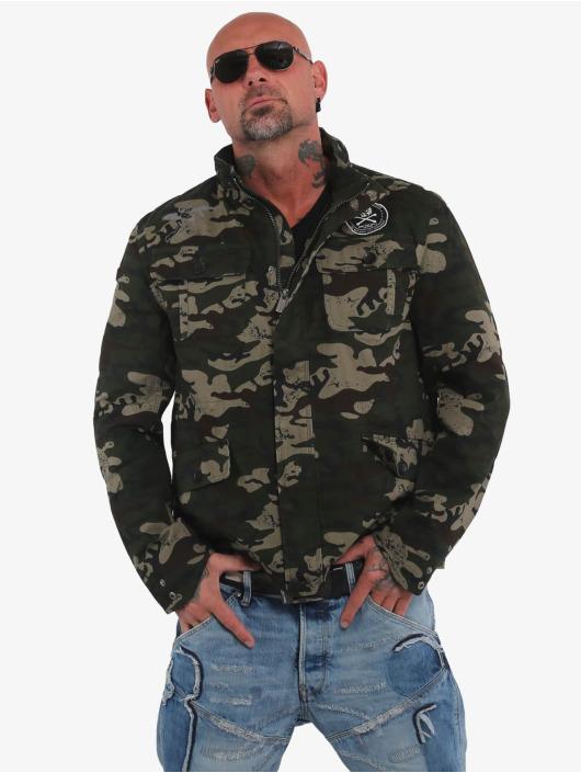Yakuza Övergångsjackor Skull N Wings Military kamouflage