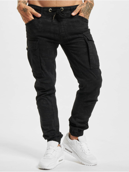Yakuza Pantalon cargo Allover Jogging noir