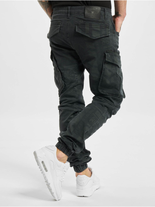 Yakuza Pantalon cargo Allover Pattern Grip noir