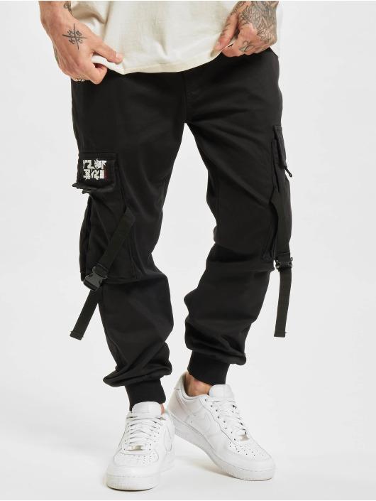 Yakuza Pantalon cargo Nippon Buckle Loose Jogging noir
