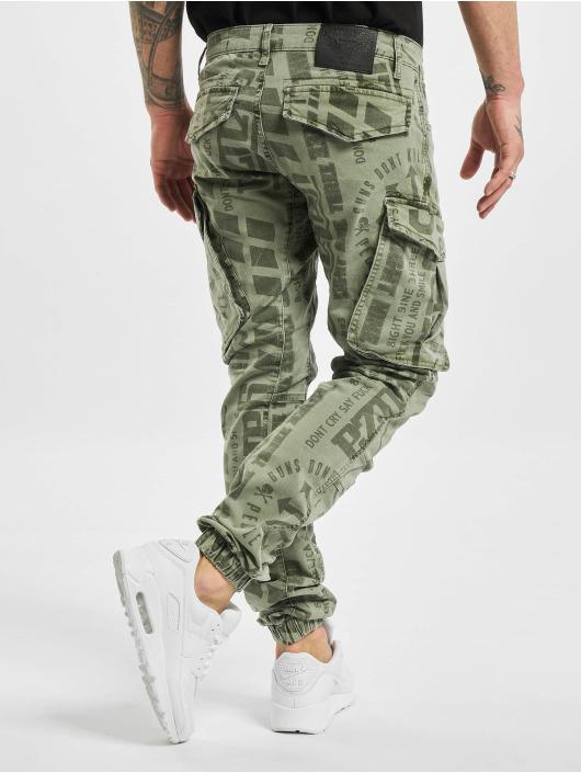 Yakuza Pantalon cargo Allover Pattern Grip olive