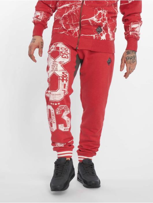Yakuza Pantalón deportivo Badge Sweat rojo