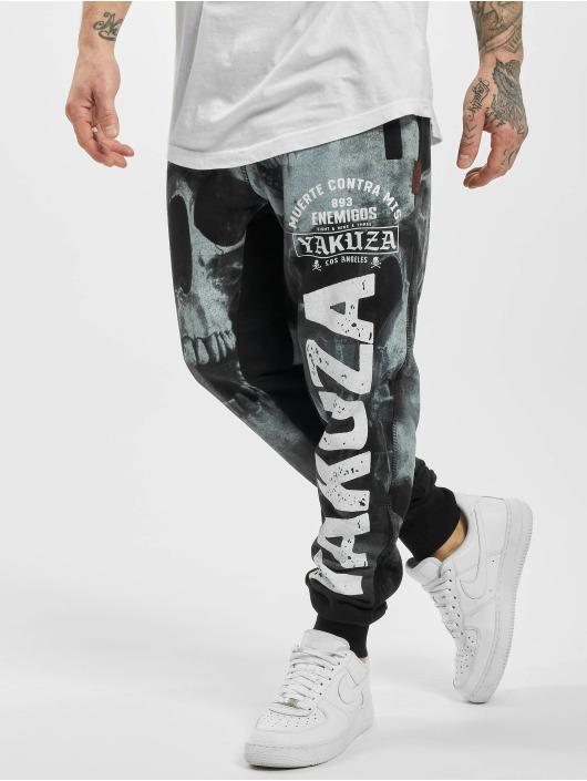 Yakuza Pantalone ginnico Muerte Skull nero