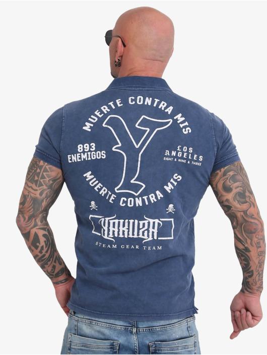 Yakuza Poloshirt Muerte Logo Pikee blue