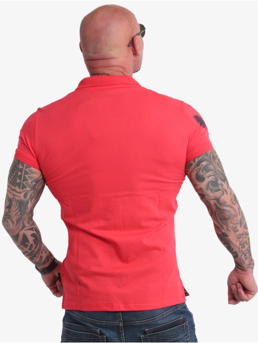 Yakuza Poloshirt Pointing Pikee pink