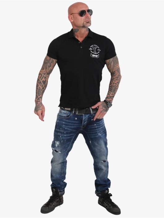 Yakuza Poloshirt Muerte Logo Pikee schwarz