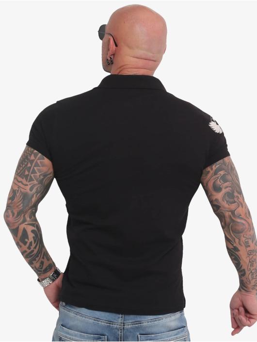 Yakuza Poloshirt Pointing Pikee schwarz