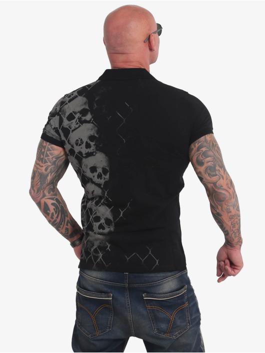 Yakuza Poloshirt Killing Fields schwarz