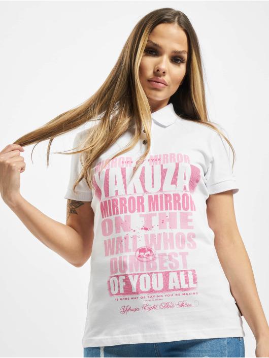 Yakuza Poloshirt Mirror Polo weiß