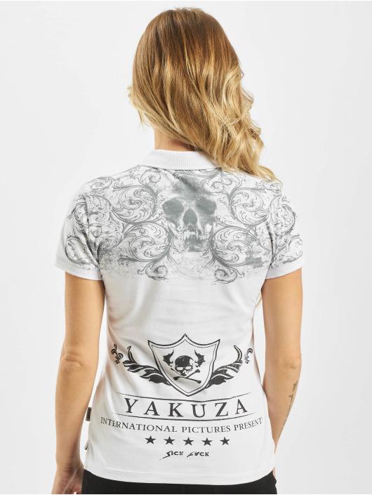 Yakuza Poloskjorter Ornamental Skull Pique hvit