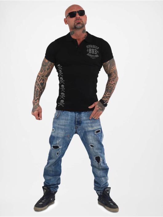 Yakuza Poloskjorter Menento Mori Pique svart