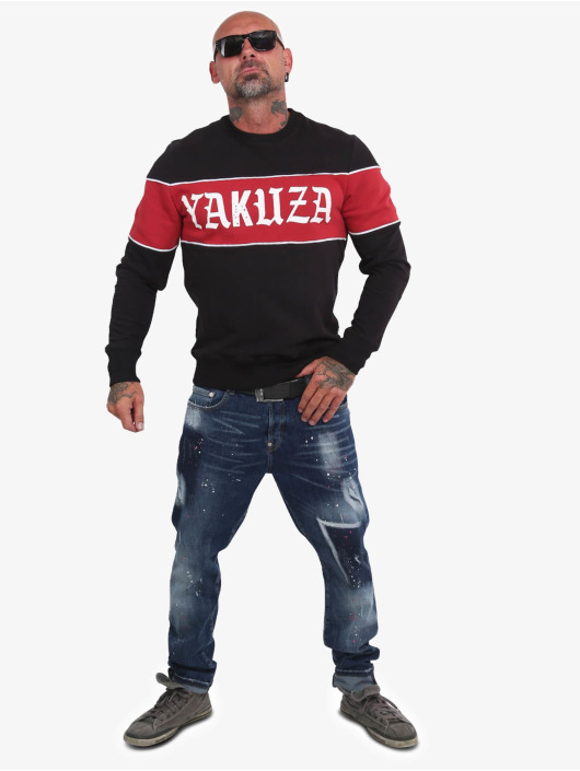 Yakuza Pullover Retro Stripe black