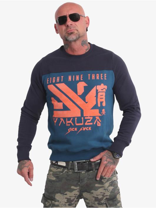 Yakuza Pullover Nippon Two Face blau