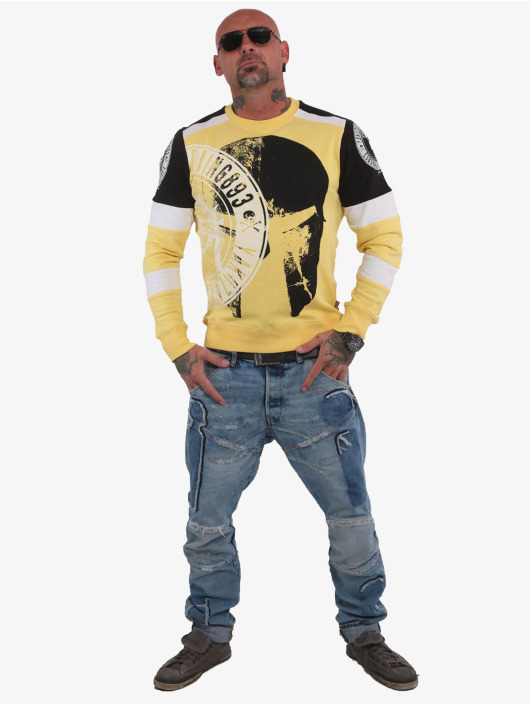 Yakuza Pullover Spartan Two Face gelb