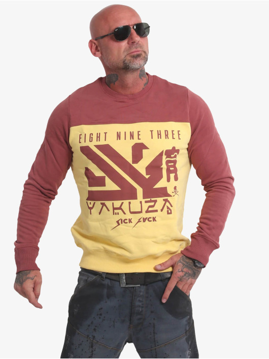 Yakuza Pullover Nippon Two Face gelb