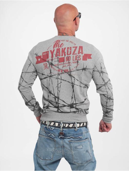 Yakuza Pullover Barbwire grau