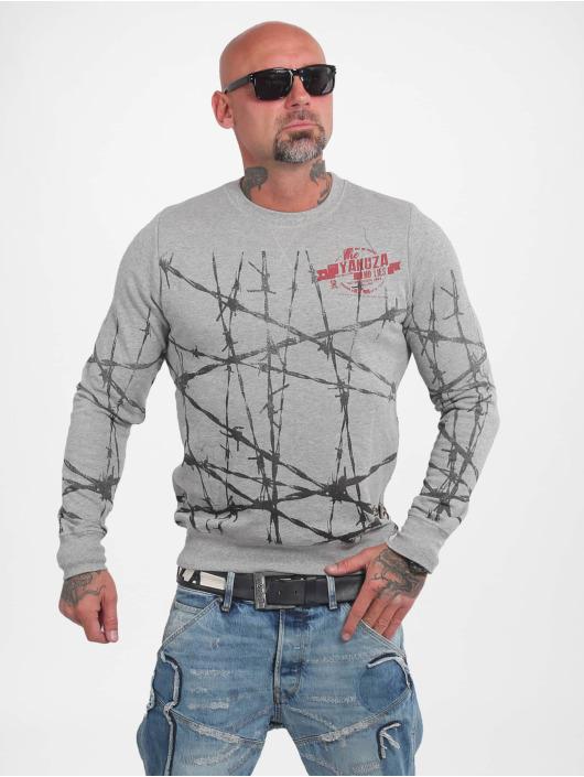 Yakuza Pullover Barbwire gray