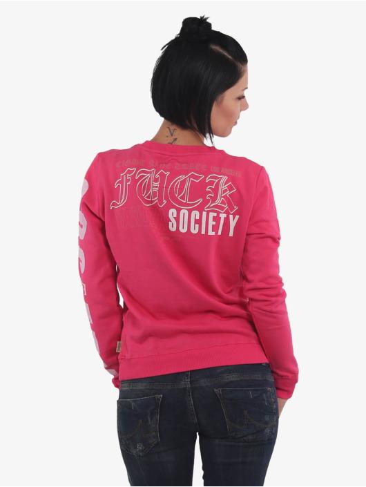Yakuza Pullover Fuck Society pink
