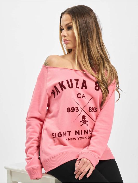 Yakuza Pullover Vintage 893 Crew Neck pink