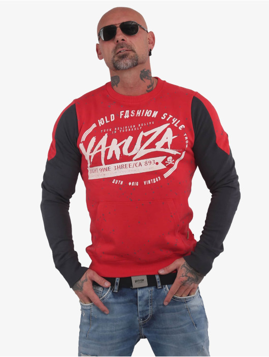 Yakuza Pullover Old Fashion Two Face Pouch red