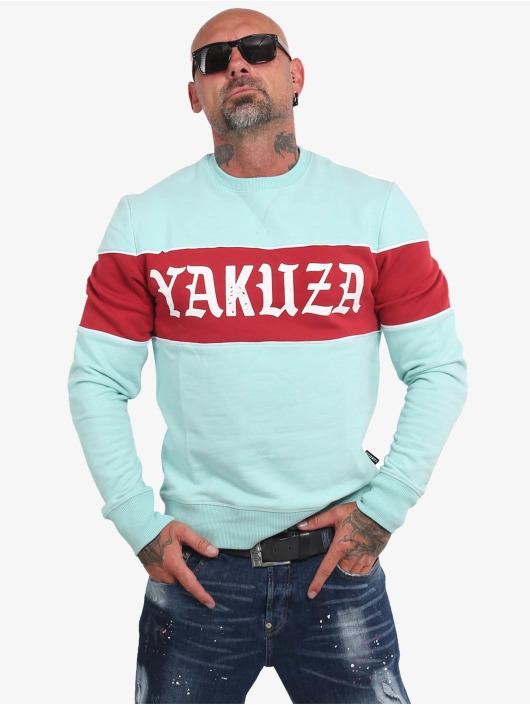 Yakuza Pullover Retro Stripe türkis