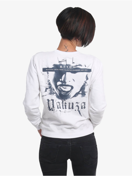 Yakuza Pullover B.i.t.c.h. Pouch weiß