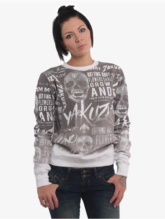 Yakuza Pullover Rotting Body Gradient white