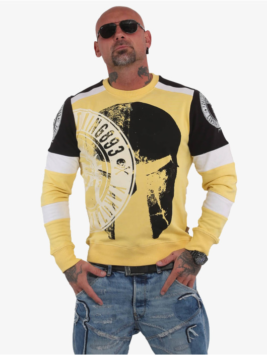 Yakuza Pullover Spartan Two Face yellow