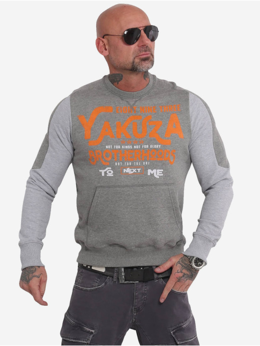 Yakuza Pulóvre Brotherhood Jumper šedá