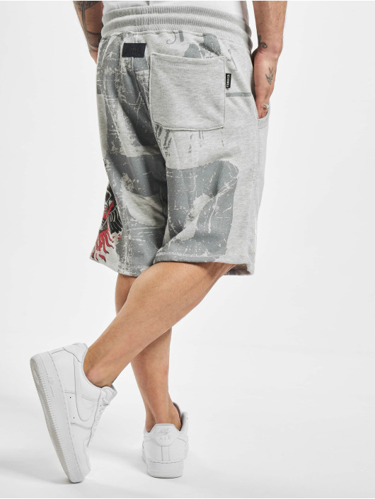 Yakuza Short Burning Skull gray