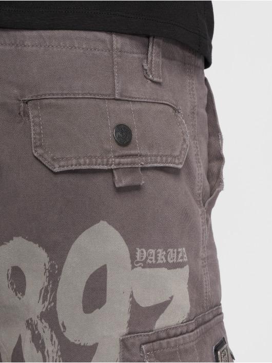 Yakuza Short Skull Label Cargo gris