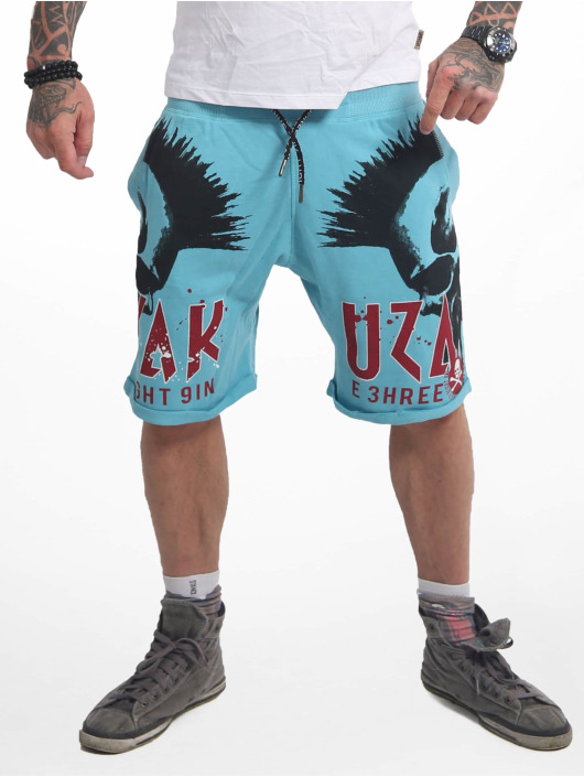Yakuza Shorts Dead Punk Urban blau