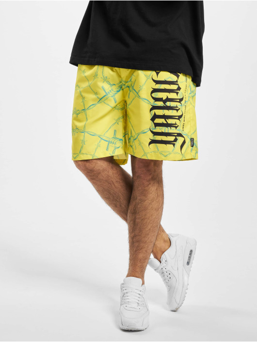 Yakuza shorts Barbwire Board geel