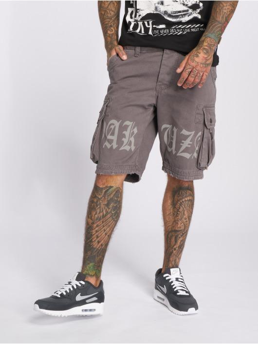 Yakuza Shorts Skull Label Cargo grå