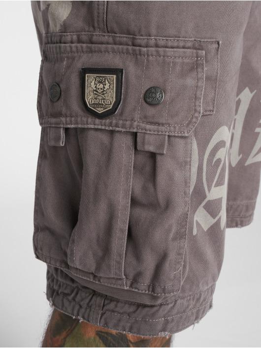 Yakuza Shorts Skull Label Cargo grau