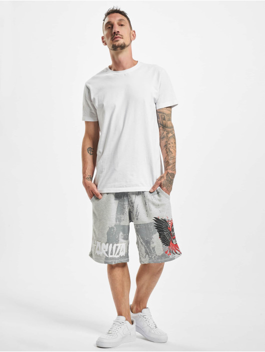 Yakuza Shorts Burning Skull grau