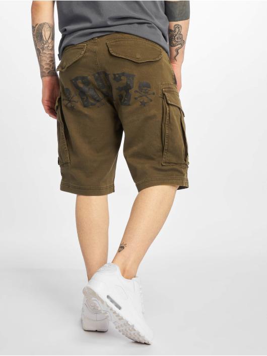 Yakuza Shorts Death Core olive