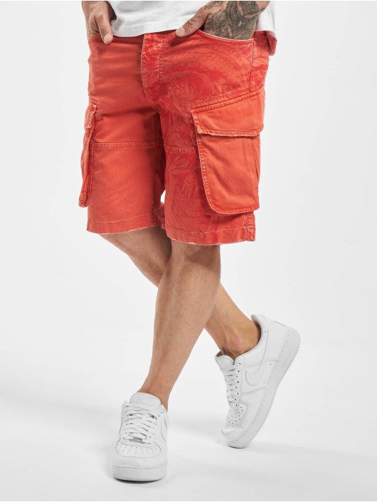 Yakuza Shorts Indian Skull red