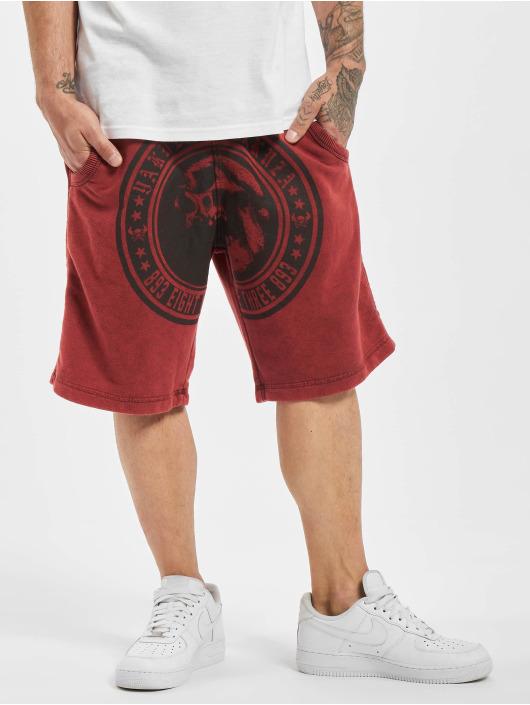 Yakuza Shorts Screaming Skull Sweat red