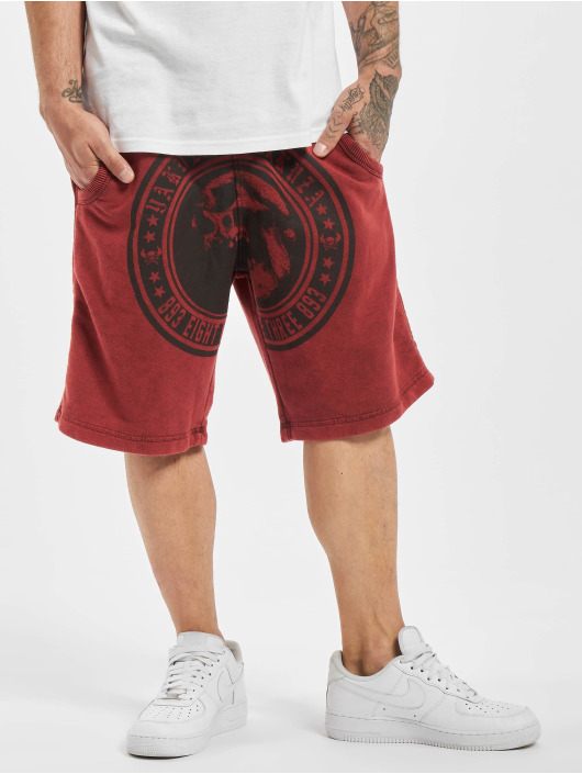 Yakuza shorts Screaming Skull Sweat rood