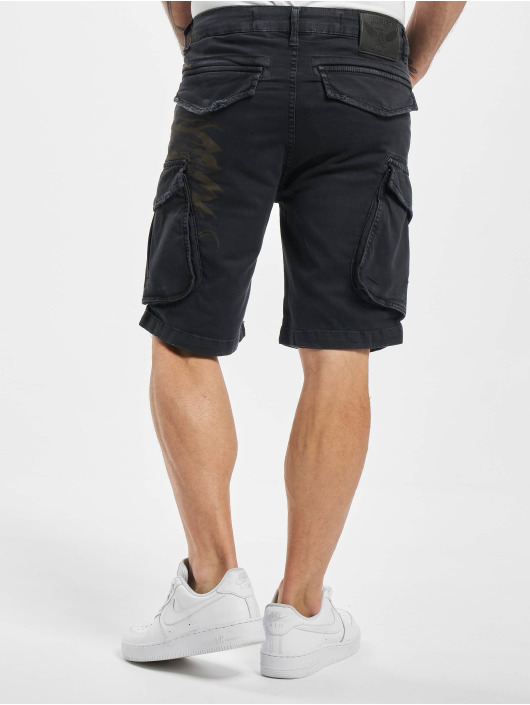 Yakuza Shorts Indian Skull svart