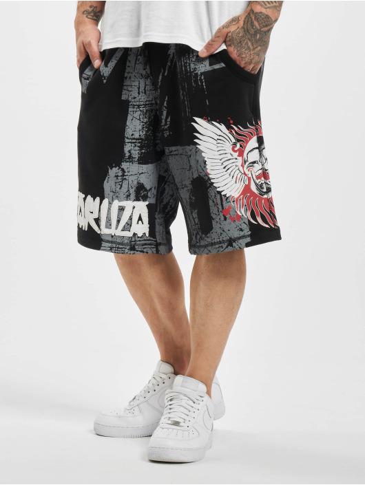 Yakuza shorts Burning Skull zwart
